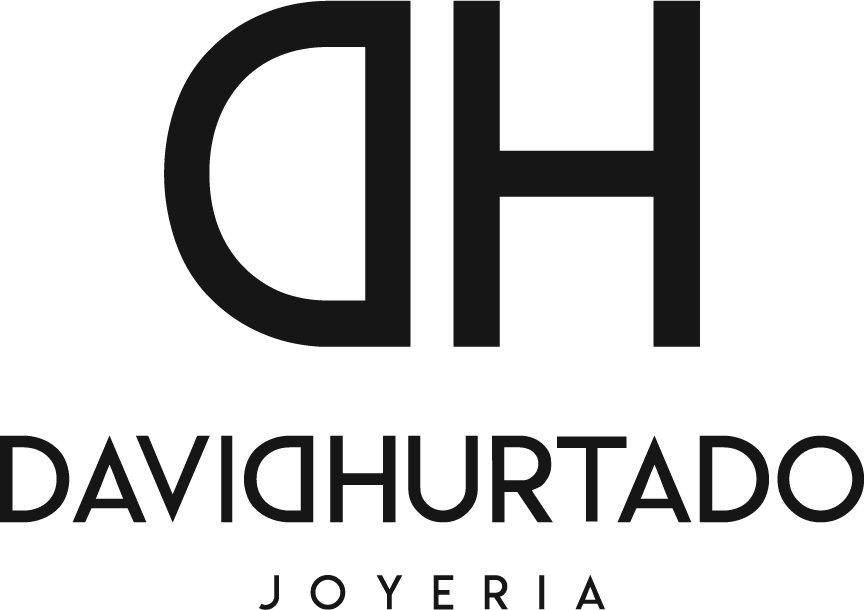 logo david hurtado joyeria blanco
